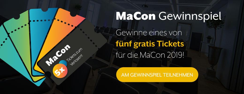 MaCon Gewinnspiel - Eines von fünf Tickets für die Konferenz gewinnen.